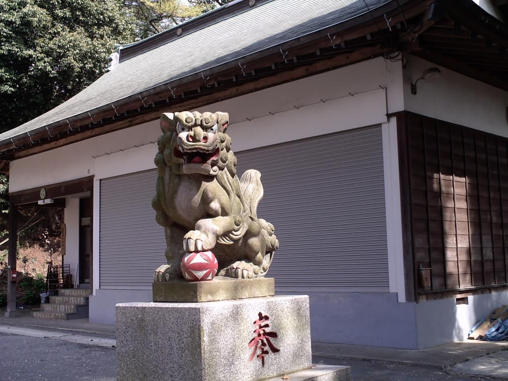 statue lion gardien du temple et mythologie japonaise. Black Bedroom Furniture Sets. Home Design Ideas