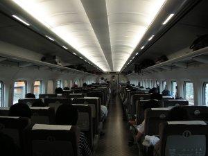 Le spacieux et rapide Shinkansen